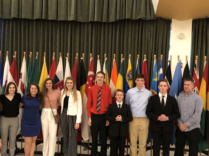Model UN Competition in Milwaukee (click on photo to see full view)