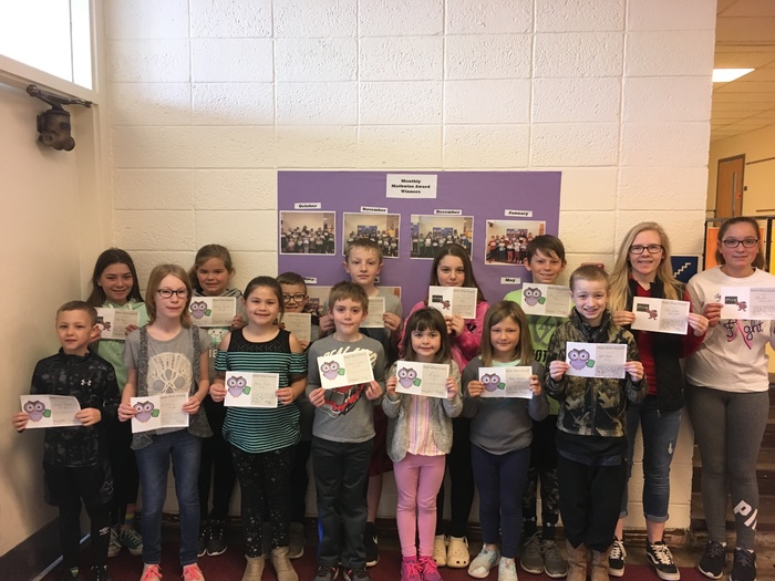 April Mathwise Award Winners