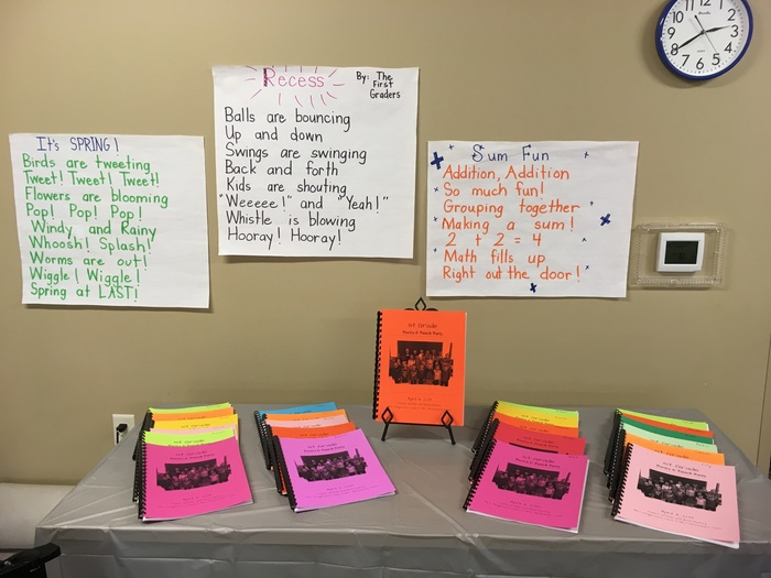 1st grade Poetry and Punch